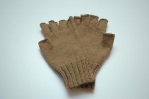 Gants demi doigts en laine de chameau