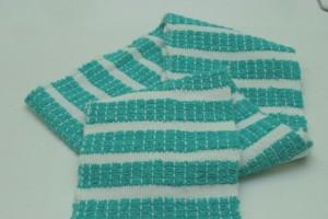 Foulard rayé turquoise